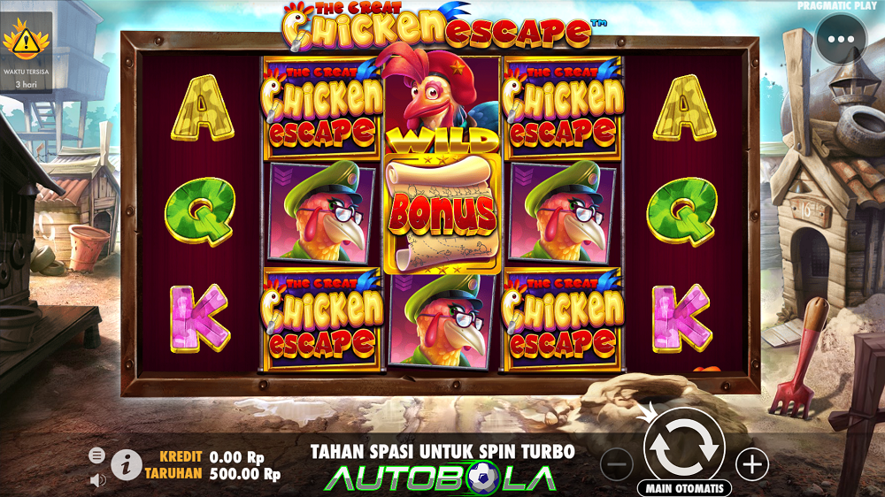 Slot Online Autobola – Review Game The Great Chicken Escape